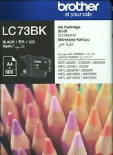 Brother LC73BK Black ink cartridge NEW Genuine