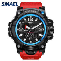 SMAEL Men's Digital Watch LED Shock&Water Proof Sports Analog Quartz Wrist Watch