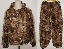 3D REALTREE CAMO HUNTING LEAF NET GHILLIE SUIT JACKET AND TROUSERS