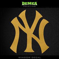 "NY Yankees -  Gold Vinyl Sticker Decal 5"""