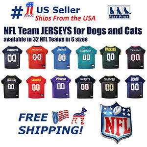 Pets First NFL Jersey for DOGS & CATS - Licensed, available in 32 Teams 7 Sizes