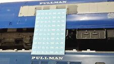 TRIANG HORNBY PULLMAN X10 CAPITAL OO GAUGE TRAIN COACH TRANSFERS DECAL SPARES