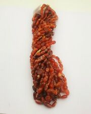 Natural Carnelian Oval Smooth Beads Strand 18 Inch