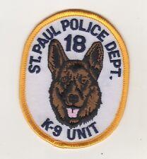 Ricamate USA St. Paul Police Department 18 k-9 Unit Uniform shoulder Patch