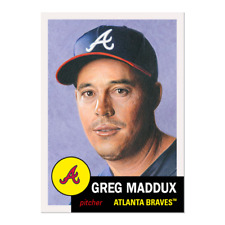 2020 TOPPS LIVING SET 341 GREG MADDUX (IMPERFECTION) PLEASE READ