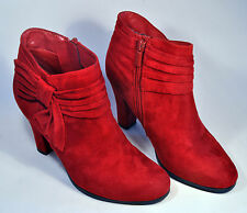 IMPO On Stage Booties Anke Boots Red Burgundy Women's Size 6 1/2M Shoes Boots