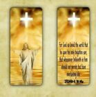 BOOKMARK JESUS JOHN 3:16 BIBLE VERSE RELIGIOUS INSPIRATIONAL LAMINATED