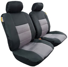 Black Grey Canvas Bucket Airbag Seat Covers For Nissan Navara D40 2006-2015