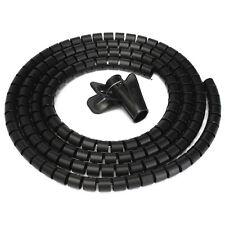 1.5m Nero Cavi ORGANIZZAZIONE Kit Spiral Pellicola per TV PC UFFICIO CASA Otl