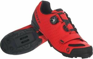 Scott MTB Comp Boa Mountain Bike Shoes Red/Black Men's Size 11.5 US / 46 EU