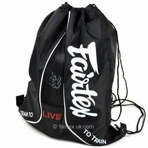 Fairtex Sach Bag Black BAG6 MMA BJJ No-Gi Gym Holdall Backpack Grappling