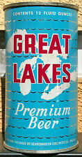 New listing Chicago 1950's Schoenhofen Edelweiss Great Lakes Flat Top Beer Can