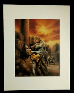 """""""Winner Takes All"""" by Luis Royo 1990 11 x 14 Matted Print-Fantasy Sci-Fi"""