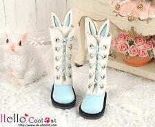 ☆╮Cool Cat╭☆【25-6】Blythe/Pullip Cute Bunny Ears 5 Hole Boots # Sky Blue