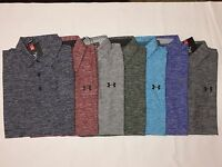 NEW WITH TAGS UNDER ARMOUR HEAT GEAR MEN'S TWIST GOLF POLO SHIRTS