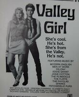 Valley Girl Print Mini Movie Ad Sheet Nicolas Cage Deborah Foreman