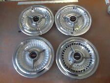 1963 63 Oldsmobile 88 98 Deluxe Hubcap Rim Wheel Cover Hub Cap OEM USED V6 SET 4