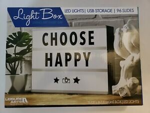 "Leisure Arts Light Box 11.75"" x 8.75"" LED Lights USB Storage 96 Slides Message"