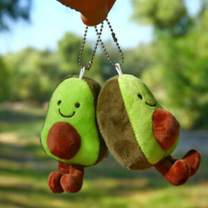 1pc  Avocado Pendant Cute Doll Key chain Plush Toy Stuffed Toys  Bag Pendant JD