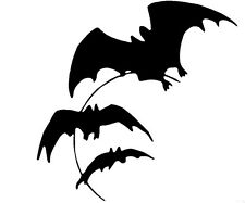 Flying Bats Decal- Window sticker Car RV  Truck ATV Hunting Outdoor Vinyl Decal