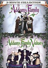 ADDAMS FAMILY & ADDAMS FAMILY VALUES DVD SET NEW
