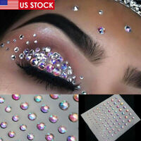 Face Gems Jewels Crystal Sticker Eyes Body Temporary Tattoo Glitter Makeup