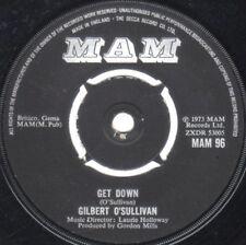 "Gilbert O'Sullivan – Get Down 7"" vinyl  disc."