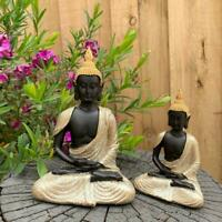 Meditative Buddha Statue Garden Home Décor Figurine Statues Ornament Gold