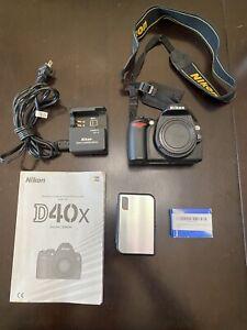 Nikon D40X SLR Camera - Black (Body, Extra Battery, SD Hard Case, Charger)