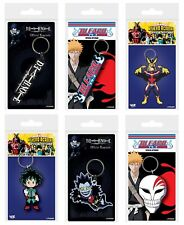 Genuine Anime Rubber Keyring Fob Key Ring - Death Note My Hero Academia Bleach