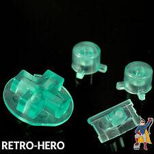 Nintendo Game Boy Pocket Knöpfe Buttons Drücker Tasten MOD Pads GBP Clear Mint