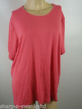 ☆ BNWT NEW MARKS & SPENCER Ladies Pink Stretch T-Shirt Top UK 22 EU 50 ☆