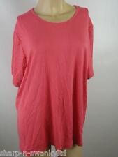 Nuevo con etiqueta Marks & Spencer Mujer Rosa Elástico Camiseta Top GB 22 EU 50