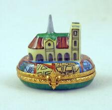 New French Limoges Trinket Box Miniature Notre Dame De Paris Cathedral