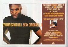 LINDEN DAVID HALL' Sexy Cinderella' magazine ADVERT / Poster 8x6 inches