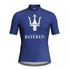 Cycling Jersey Short Sleeve Bike Motocross Shirt Jacket Top Maserati Clothing