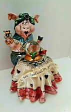 Clayworks Blue Sky Pig Fortune Teller by Heather Goldminc