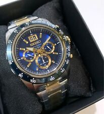 SPC239P1 Lord Chronograph Tachymeter Blue & Gold Dial Silver Steel