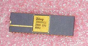 ZILOG  Z8400ACS Z80A CPU 40-PIN DIP Gold Ceramic Vintage