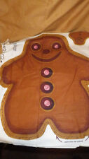 Vintage Gingerbread Man Fabric Panel Pillow Cut and Sew 100% cotton