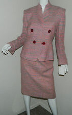 NEW Women Christian Dior 100% Silk Jacket Blazer Skirt SUIT Long Sleeve Size 4