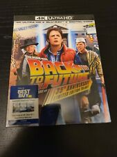 Back to the Future Trilogy 35th Anniversary 4K + Blu ray Steelbook Best Buy NEW