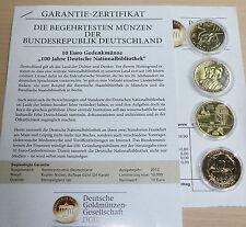 10 EURO BRD Münzen vergoldet Wagner Automobil Elbtunnel Schneewittchen 2011 2013