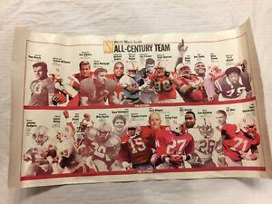 Nebraska Football All-Century Team Poster 2000