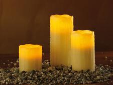 LED-Wachs-Kerzen 3er Set mit Funk Fernbedienung Romantik Echtwachs Candle Light