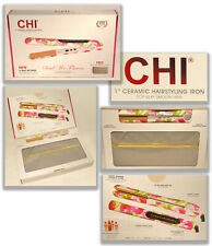 """CHI ~ Send Me Flowers - Limited Edition 1"""" Hairstyling Flat Iron 6 Settings *NEW"""