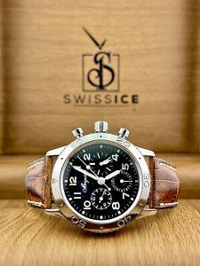 Breguet Aeronavale Chronograph Black Dial Men's Watch 39.5mm Ref 3800ST929W6