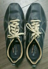 SKECHERS MENS LEATHER RELAXED FIT MEMORY FOAM SIZE 12 USA SN64224  Black / Tan