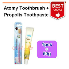 Atomy Gold Coated Nano Dust Toothbrush 1pcs + Propolis Toothpaste 1 tubes (50g)