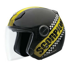 Scorpion EXO-200 T.T. 3/4 Open Face Motorcycle Helmet Black Yellow Medium MD